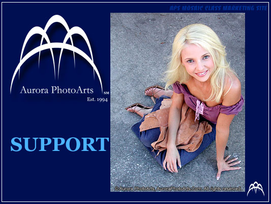Client Support - Aurora PhotoArts Tampa Bay Photography and Design.