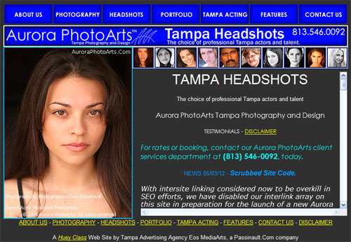A 3rd generation Huey Class site for Aurora PhotoArts. These sites had awesome SEO performance.